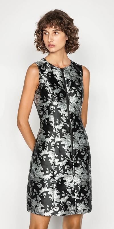 Sale  | Monochrome Rose Zip Front Dress