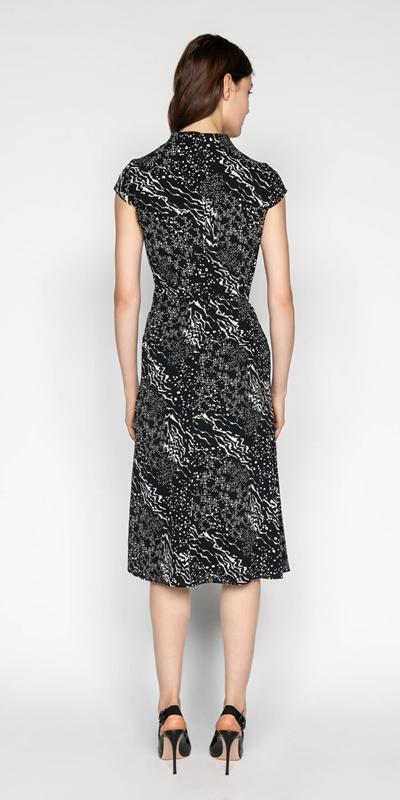 Dresses | Monochrome Georgette Midi Dress