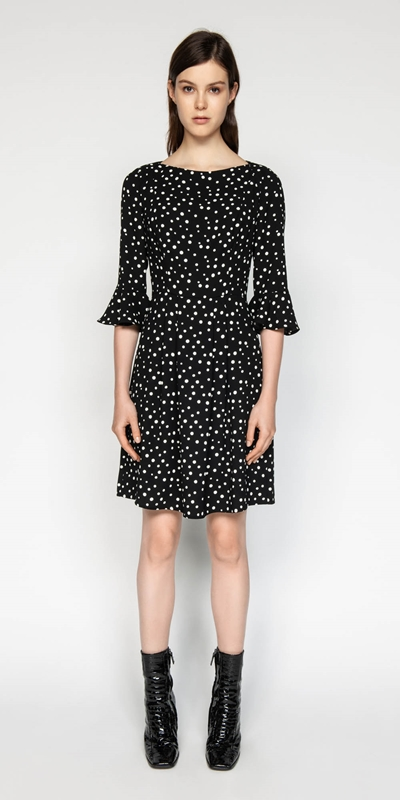 Dresses | Spot Crepe Dress
