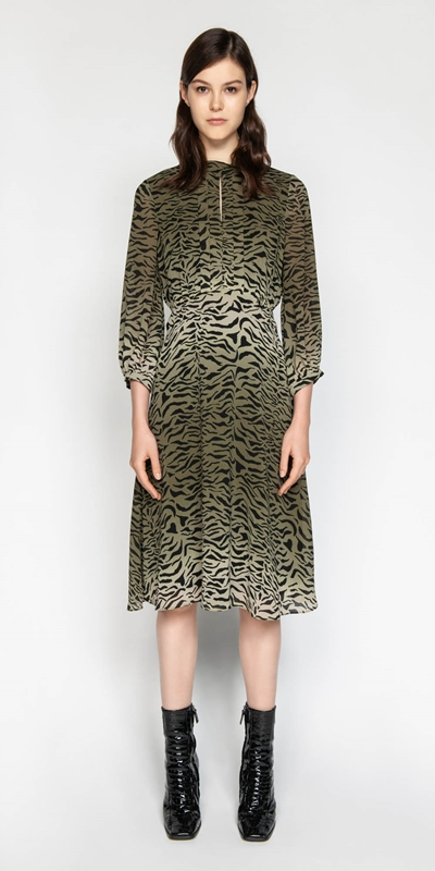 Sale | Gradient Animal Georgette Dress