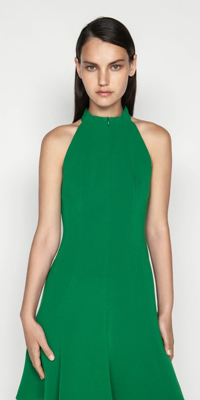 Sale  | Crepe Racer Fit And Flare Dress