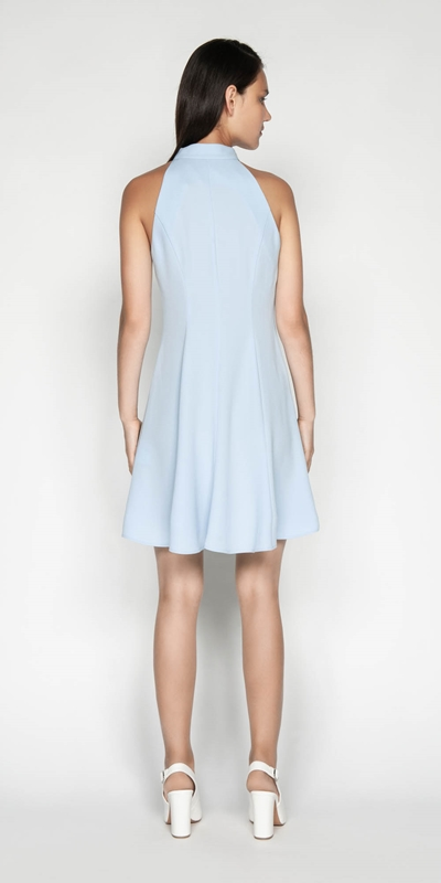 Dresses | Crepe Racer Fit And Flare Dress