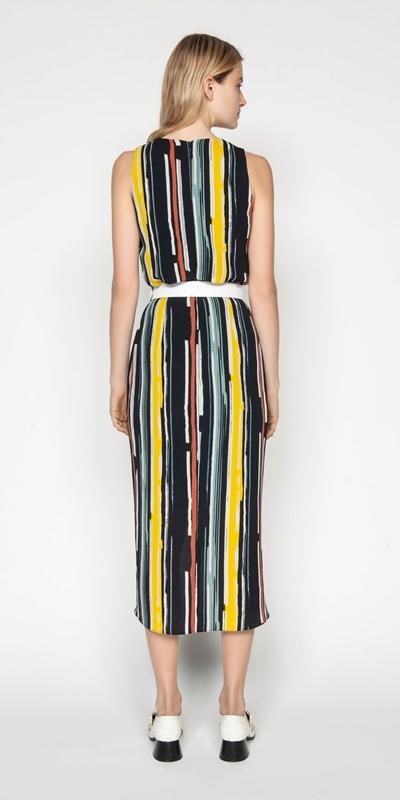 Dresses | Bold Stripe Draped Dress