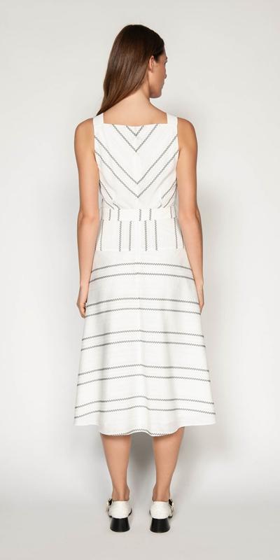 Dresses | Jacquard Stripe Viscose Dress