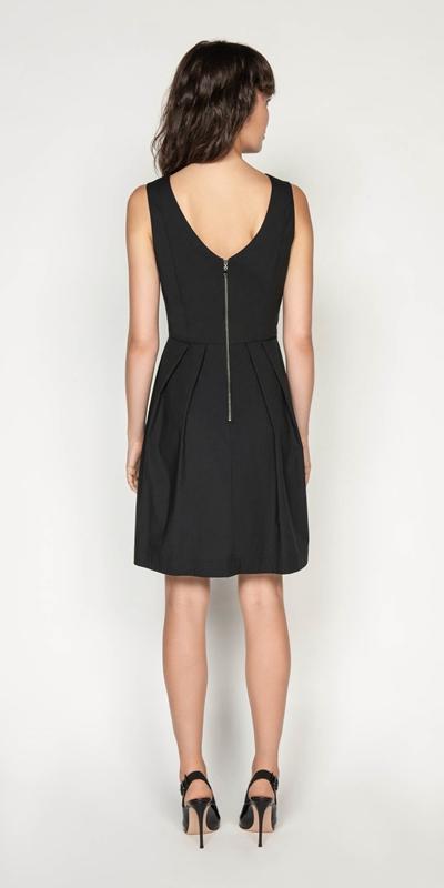 Dresses | Cotton Blend Boat Neck Dress