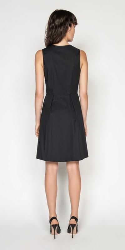 Dresses | Cotton Blend Zip Front Dress