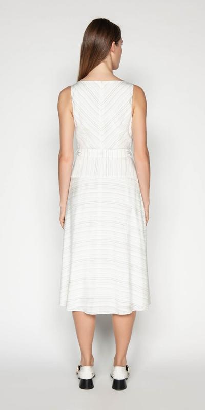 Dresses | Striped Midi Dress