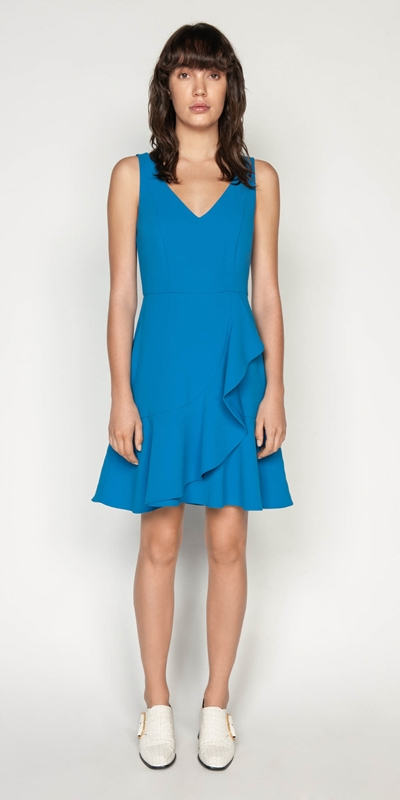 Wear to Work | Crepe Frilled Hem Dress