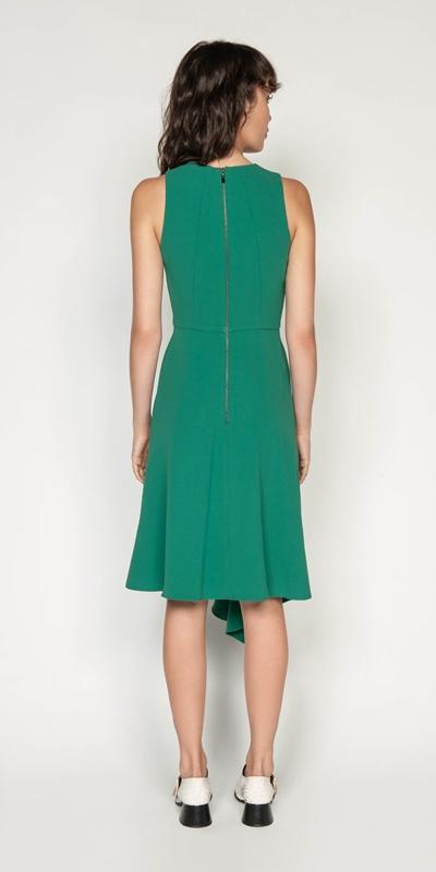 Dresses | Crepe Asymmetric Hem Midi Dress