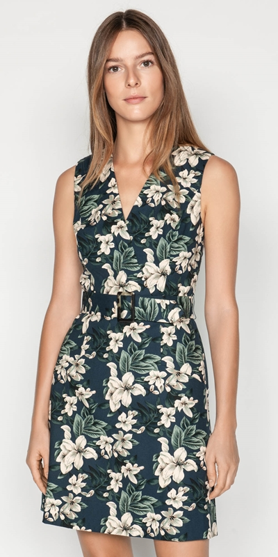 Dresses  | Tropical Ottoman A-Line Dress
