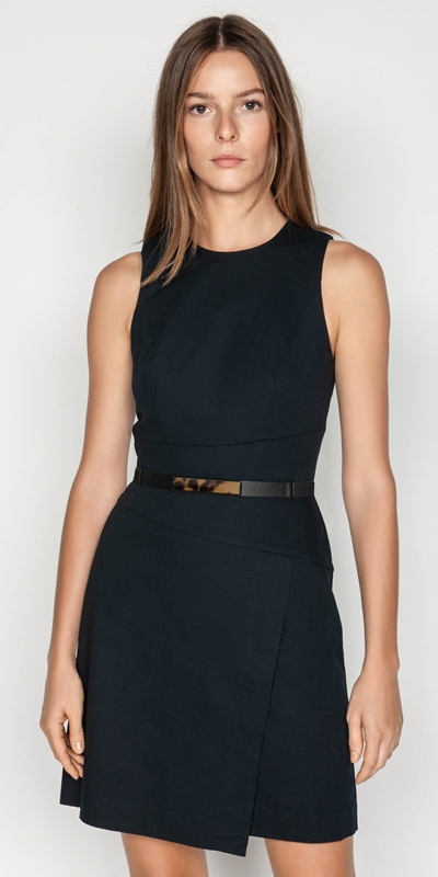Wear to Work  | Belted Ottoman Dress