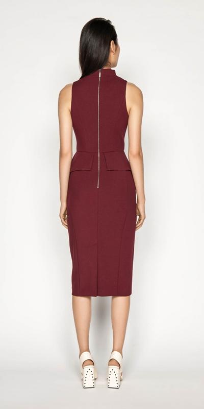 Dresses   Draped Peplum Pencil Dress