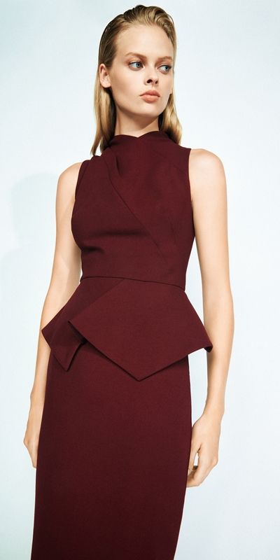 Wear to Work  | Draped Peplum Pencil Dress