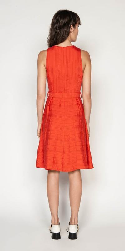 Dresses | Belted Stripe Midi Dress