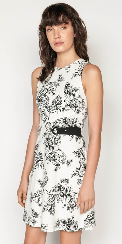 Dresses  | Toile Floral Cotton Ottoman Dress