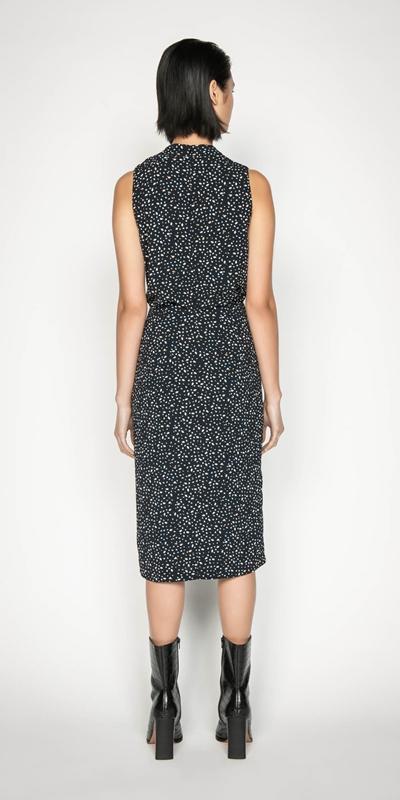 Dresses   Marbled Spot Wrap Dress