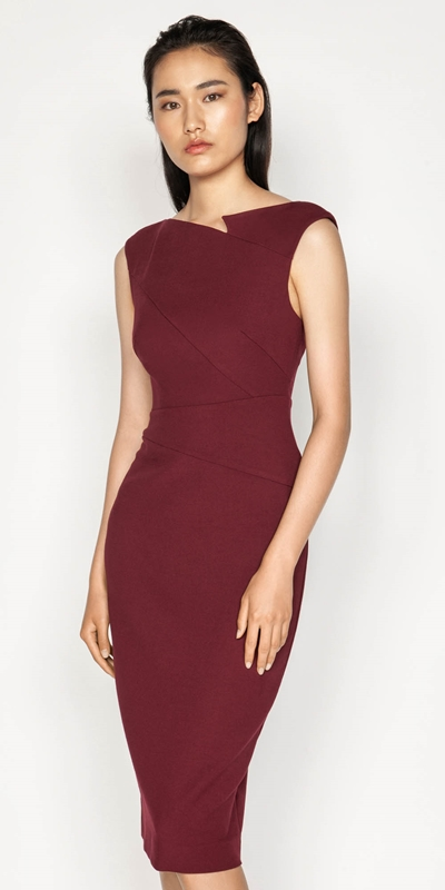 Wear to Work  | Asymmetrical Pencil Dress