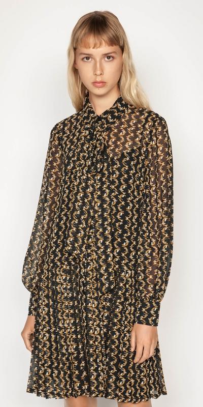 Dresses | Monogram Chain Shirt Dress
