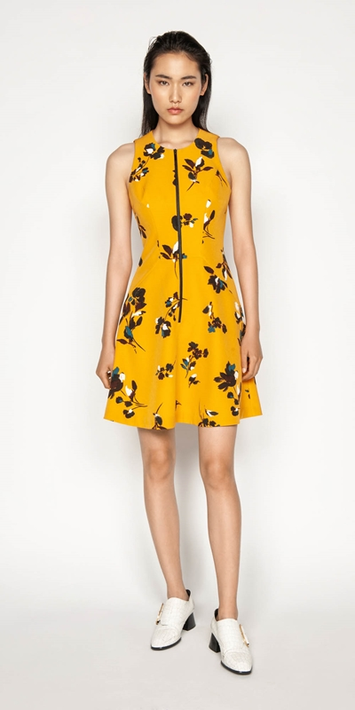 Sale | Floral Zip Front Dress