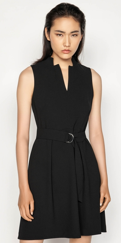 Wear to Work  | Crepe Belted Dress