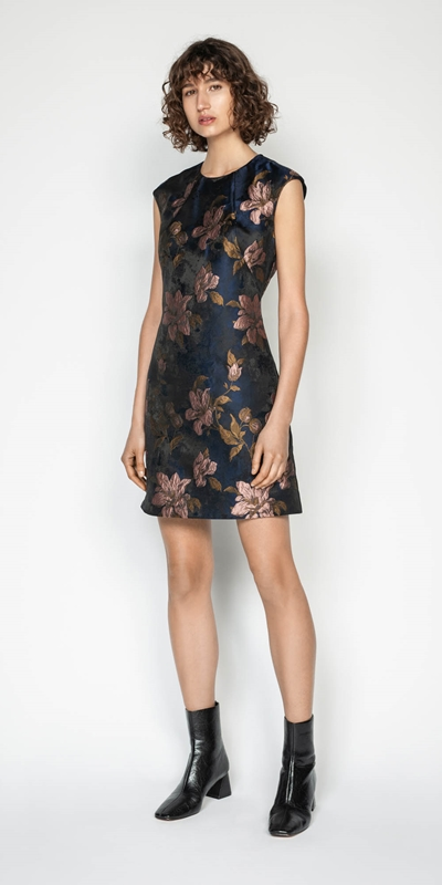 Dresses | Rose Jacquard Shift Dress