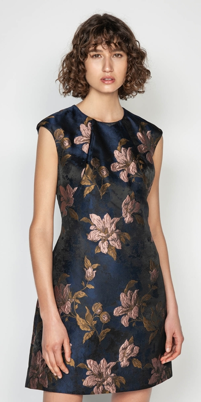 Sale  | Rose Jacquard Shift Dress