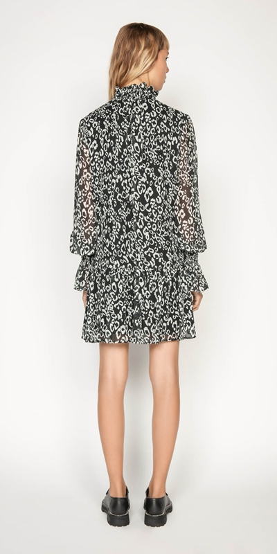 Dresses | Monochrome Leopard Trapeze Dress