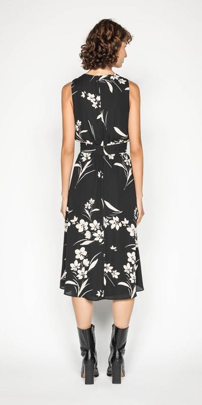 Dresses | Silhouette Bouquet Georgette Midi Dress