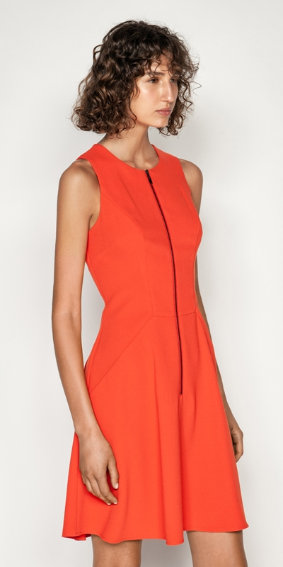 Wear to Work  | Soft Drapey Zip Front Dress