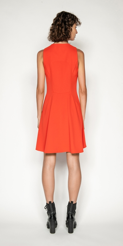 Dresses   Soft Drapey Zip Front Dress