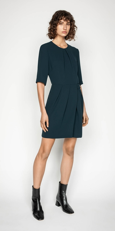 Dresses | Crepe Wrap Front Dress