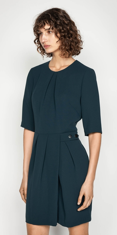 Wear to Work  | Crepe Wrap Front Dress