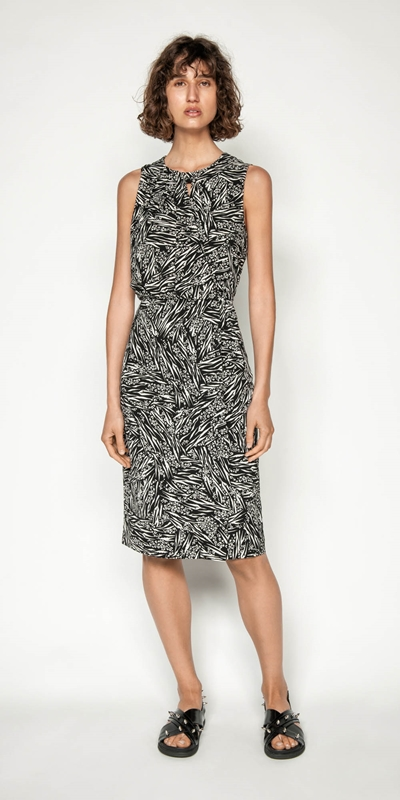 Wear to Work | Monochrome Animal Dress
