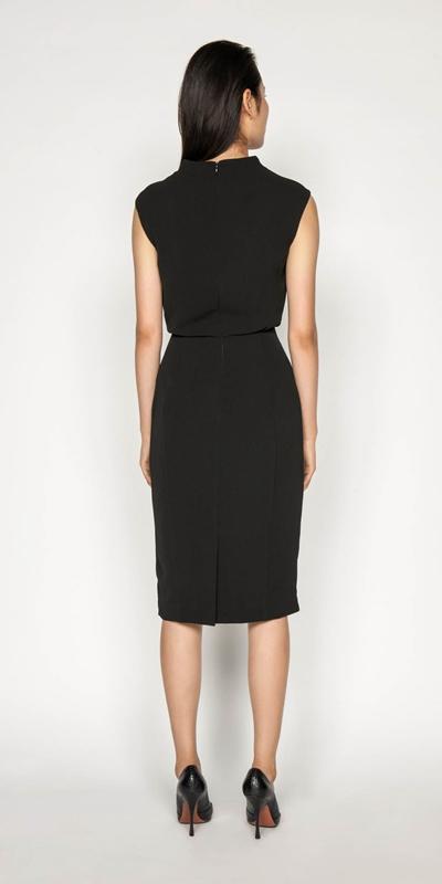 Dresses | Draped Skirt Funnel Neck Dress