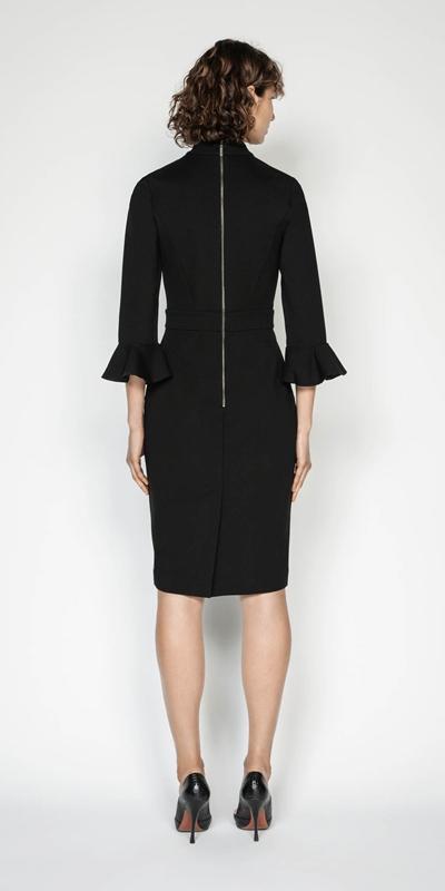 Dresses | Draped Neck Pencil Dress