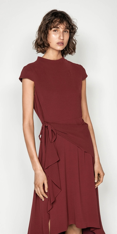 Dresses | Asymmetric Frill Midi Dress