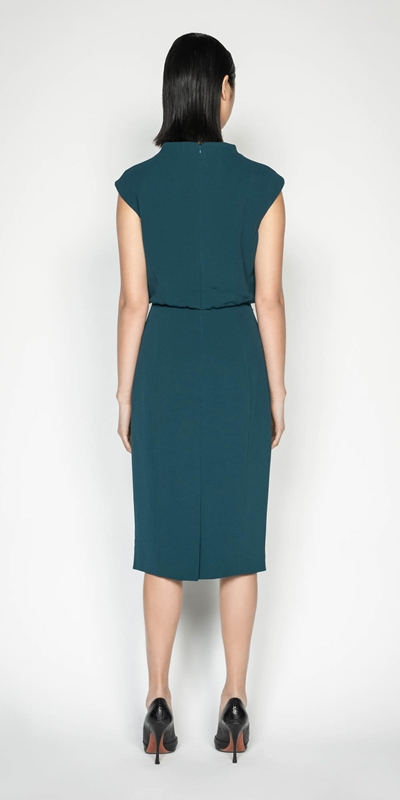 Dresses | Draped Skirt Funnel Neck Dress