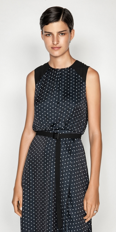 Sale  | Spot Belted Midi Dress