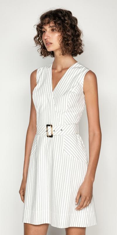 Sale  | Pinstripe A-Line Dress