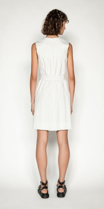 Dresses | Pinstripe A-Line Dress