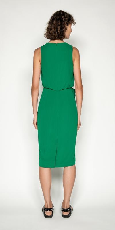Dresses | Crinkle Georgette Wrap Front Dress