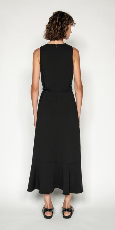Dresses | Frilled Hem Belted Midi Dress