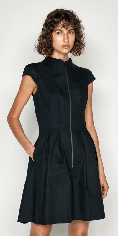 Wear to Work  | Ottoman Zip Front Dress