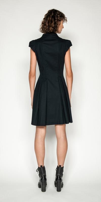 Dresses   Ottoman Zip Front Dress