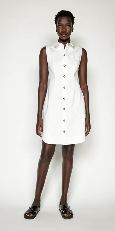 Dresses | Cotton Button Front Dress