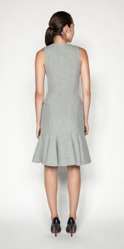 Dresses   Melange Fluted Pencil Dress