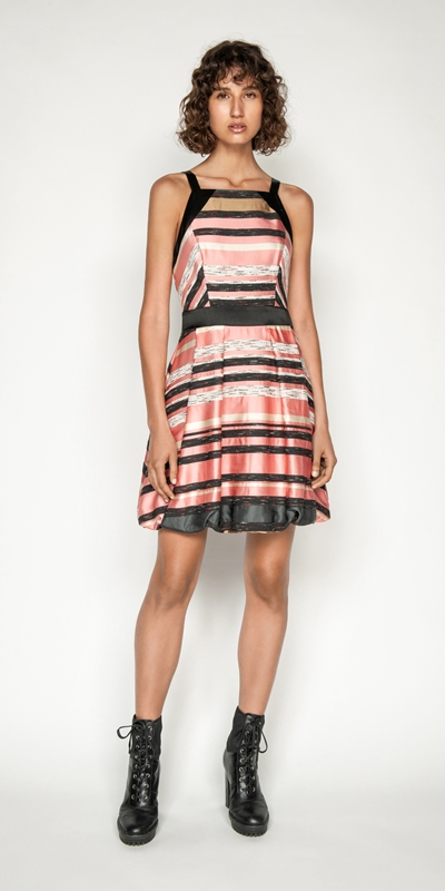 Dresses | Stripe Jacquard Bubble Dress