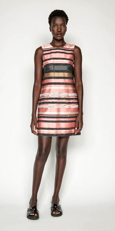 Dresses | Stripe Jacquard Shift Dress