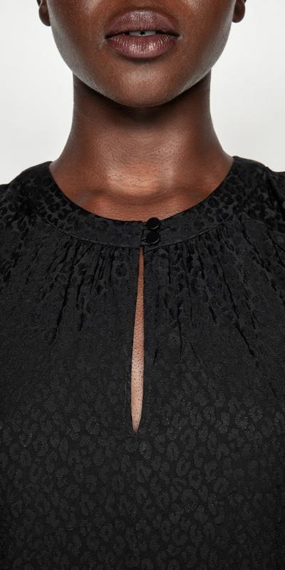 Dresses | Animal Jacquard Midi Dress
