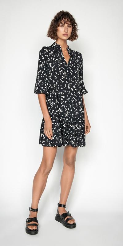 Dresses | Monochrome Blouson Sleeve Dress